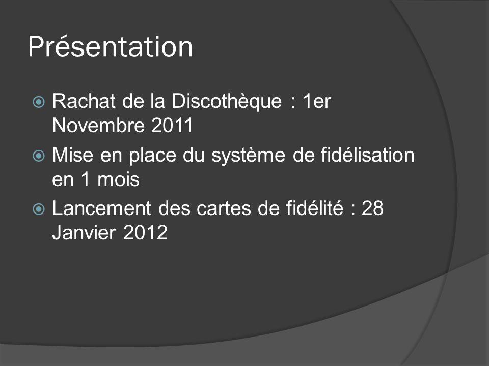 Présentation Rachat de la Discothèque : 1er Novembre 2011