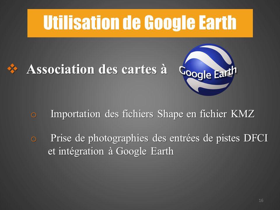 Utilisation de Google Earth