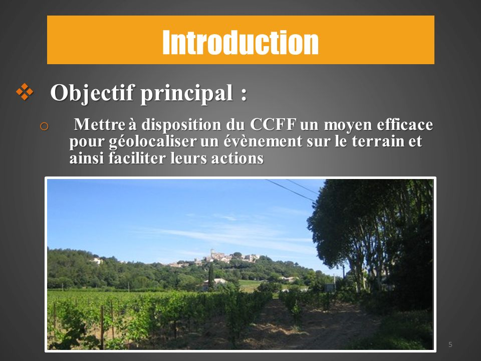 Introduction Objectif principal :