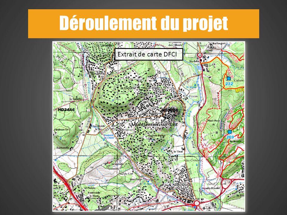 Déroulement du projet Extrait de carte DFCI