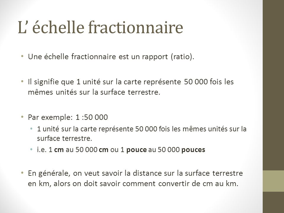 L' échelle fractionnaire