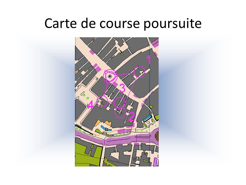 Carte de course poursuite