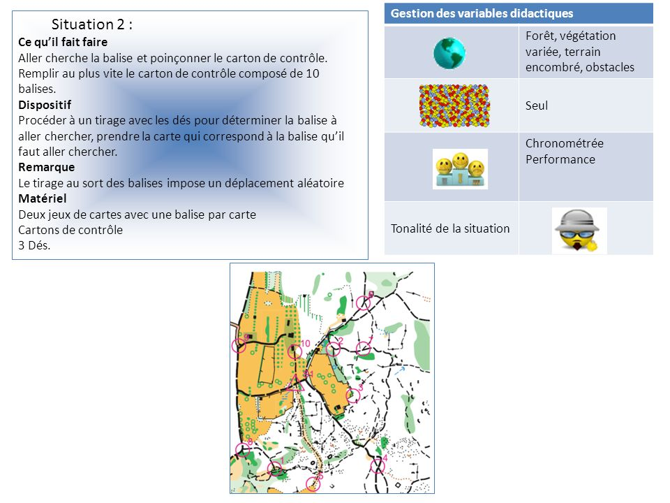 Situation 2 : Gestion des variables didactiques