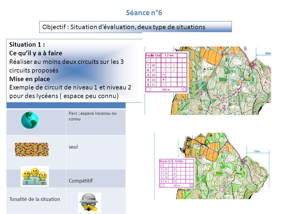 Séance n°6 Objectif : Situation d'évaluation, deux type de situations
