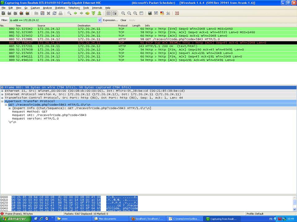 -Présentation de Wireshark -Protocoles TCP et HTTP -Première capture : quand ça marche… -Seconde capture : limites du matériel