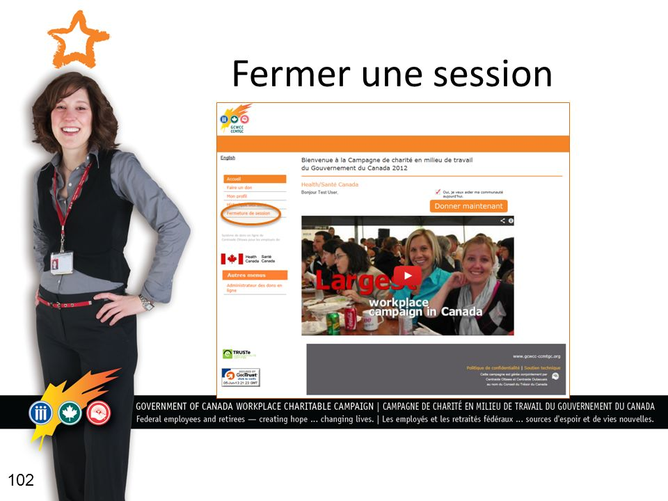 Fermer une session