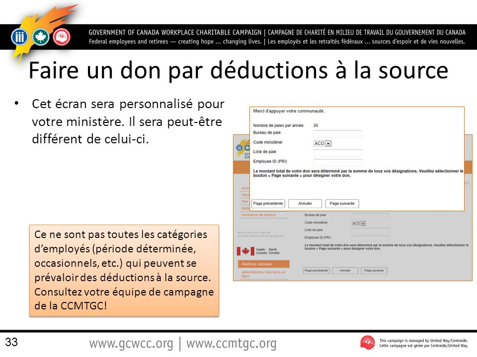 Faire un don par déductions à la source