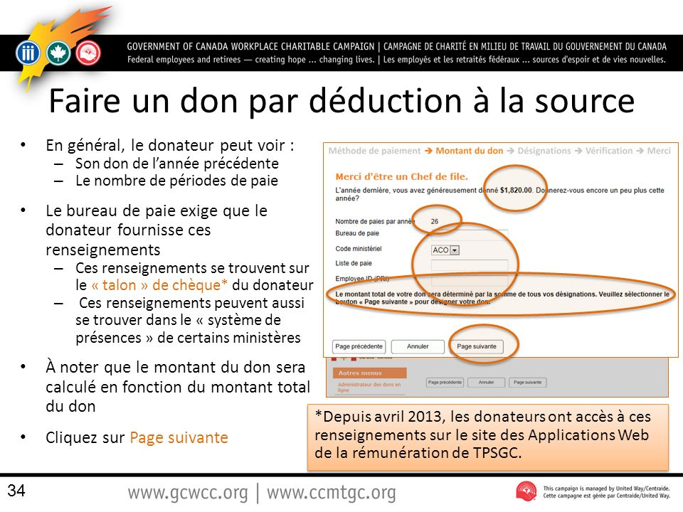 Faire un don par déduction à la source