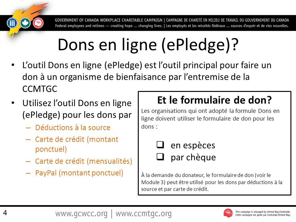 Dons en ligne (ePledge)