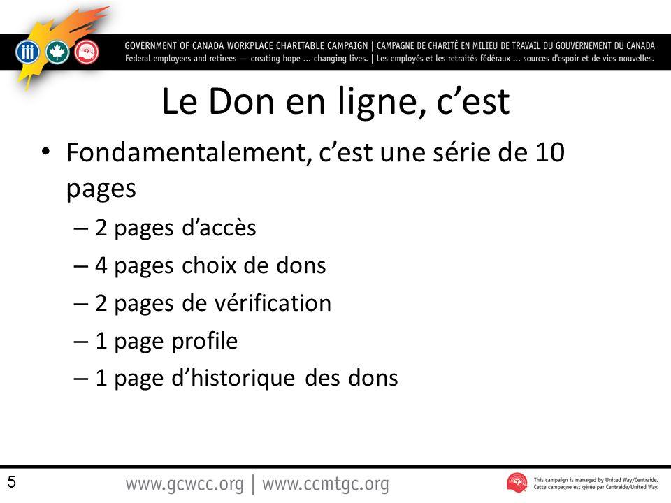 Le Don en ligne, c'est Fondamentalement, c'est une série de 10 pages