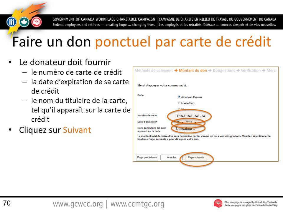Faire un don ponctuel par carte de crédit