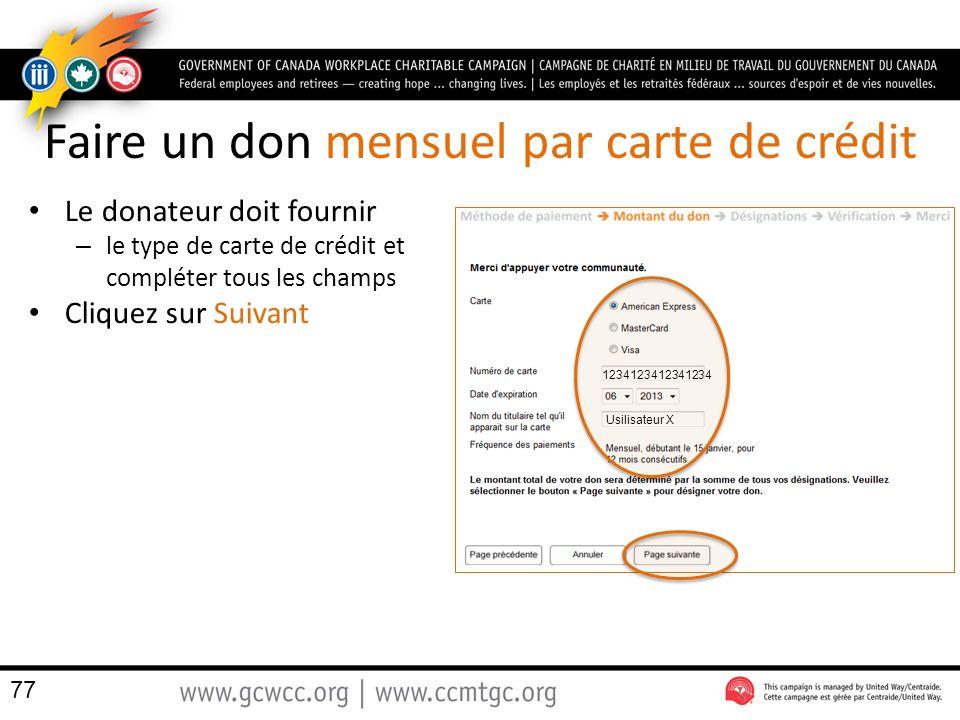 Faire un don mensuel par carte de crédit