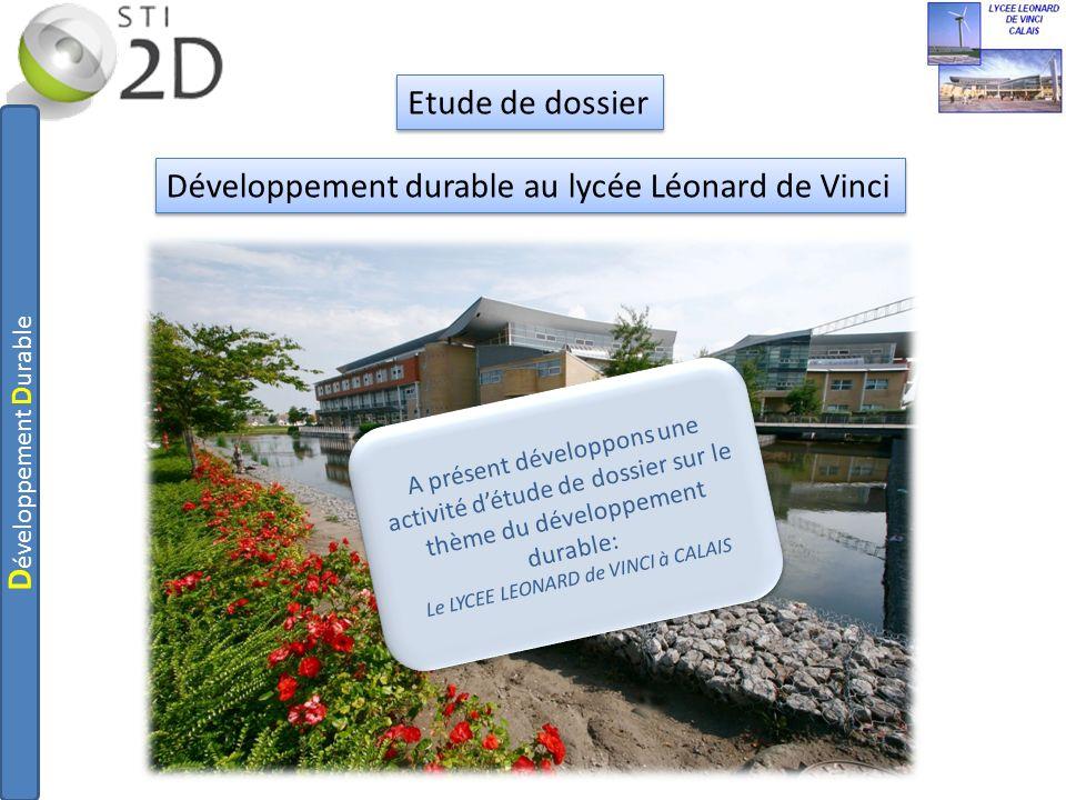 Développement durable au lycée Léonard de Vinci
