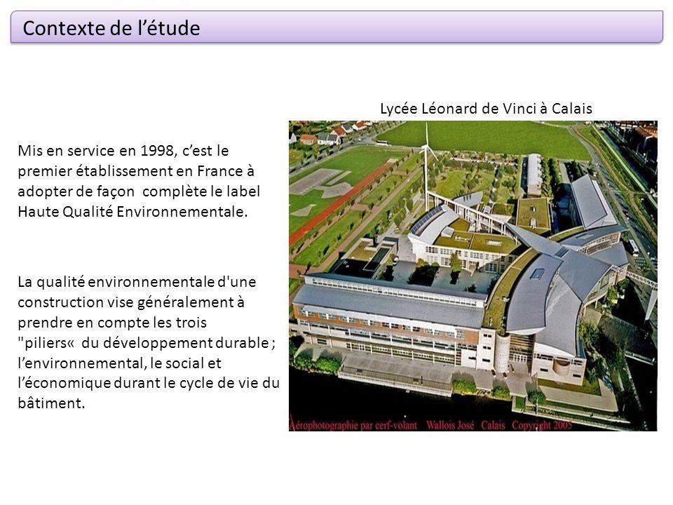 Contexte de l'étude Lycée Léonard de Vinci à Calais