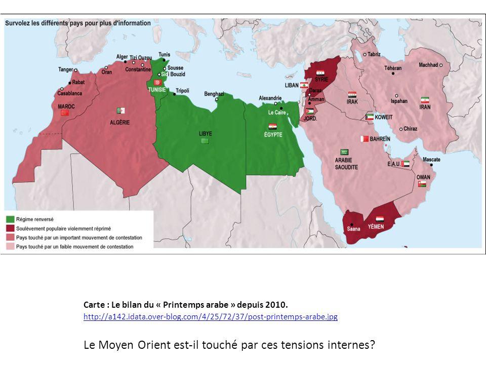 Le Moyen Orient est-il touché par ces tensions internes