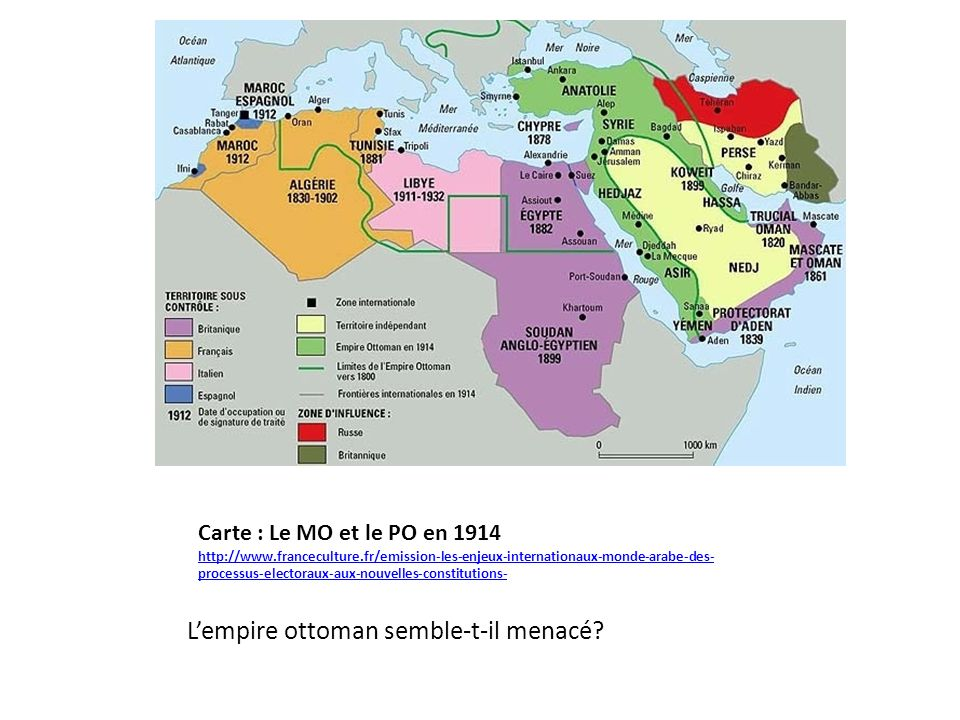 L'empire ottoman semble-t-il menacé