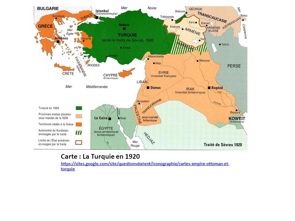 Carte : La Turquie en 1920 https://sites. google