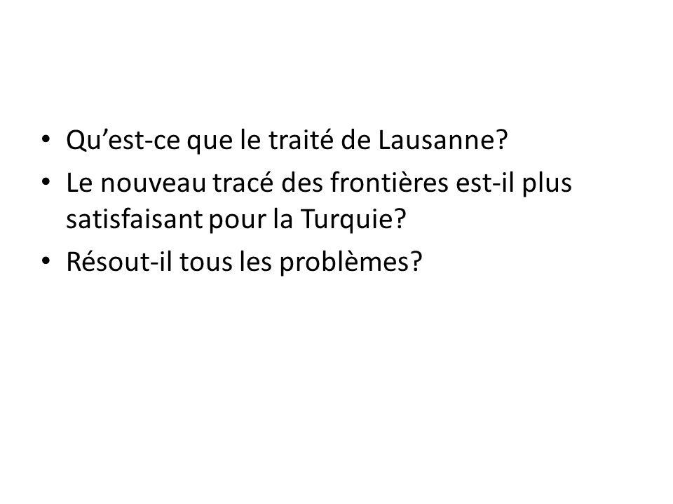 Qu'est-ce que le traité de Lausanne