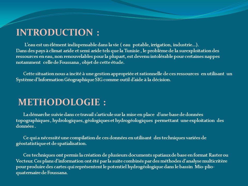 INTRODUCTION : METHODOLOGIE :