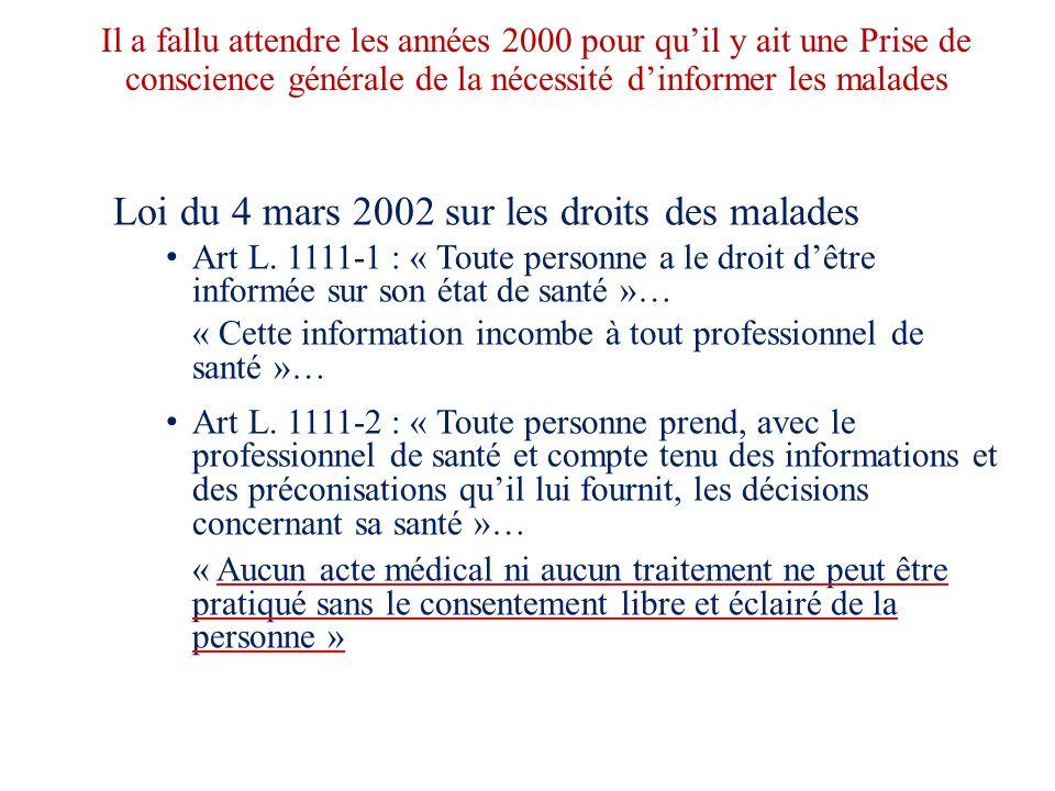 Loi du 4 mars 2002 sur les droits des malades