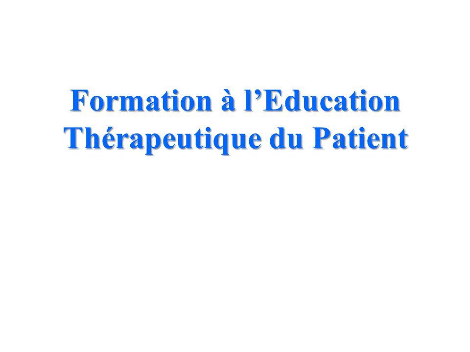 Formation à l'Education Thérapeutique du Patient
