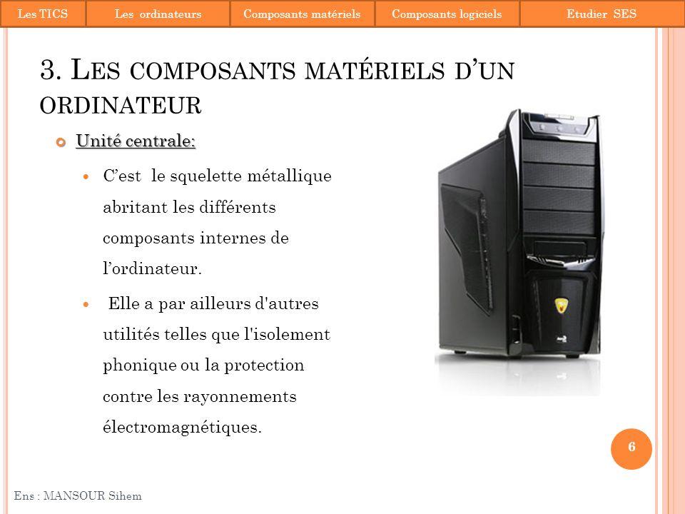 3. Les composants matériels d'un ordinateur