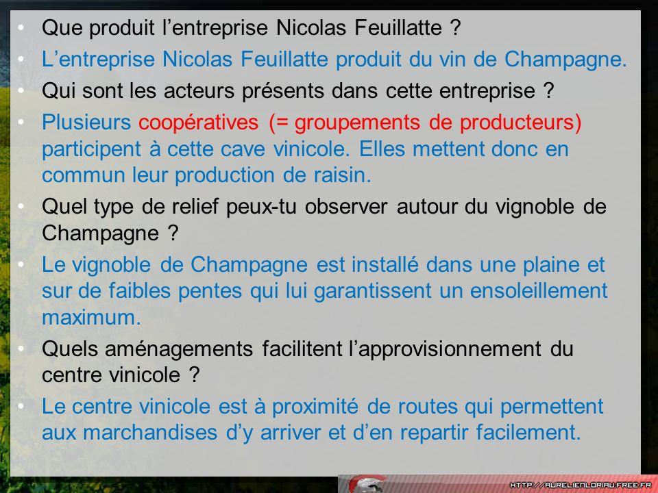 Que produit l'entreprise Nicolas Feuillatte