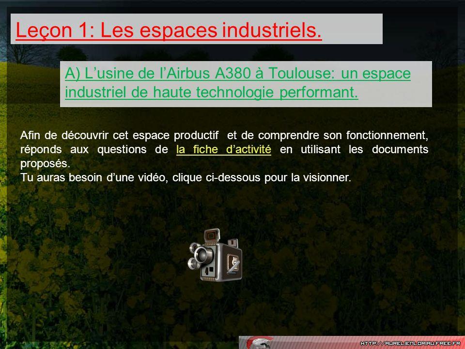 Leçon 1: Les espaces industriels.