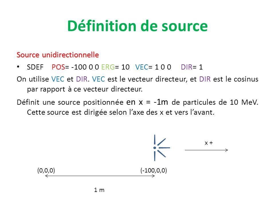 Définition de source Source unidirectionnelle