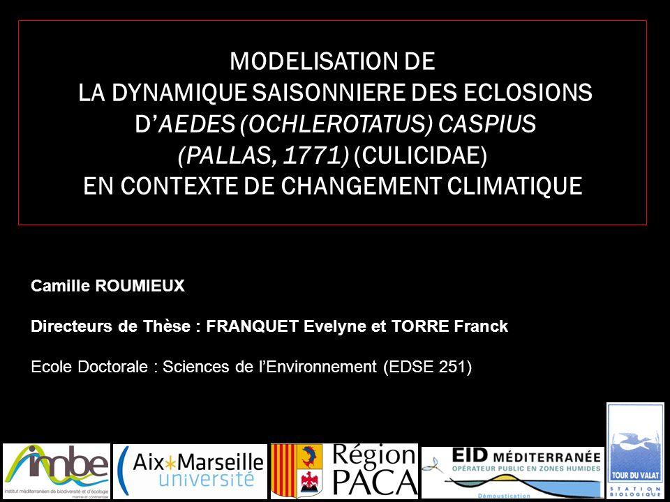 MODELISATION DE LA DYNAMIQUE SAISONNIERE DES ECLOSIONS D'AEDES (OCHLEROTATUS) CASPIUS (PALLAS, 1771) (CULICIDAE) EN CONTEXTE DE CHANGEMENT CLIMATIQUE