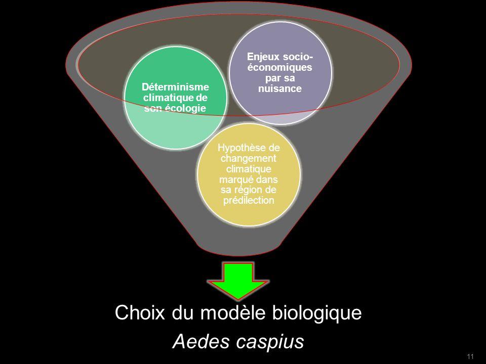 Choix du modèle biologique Aedes caspius
