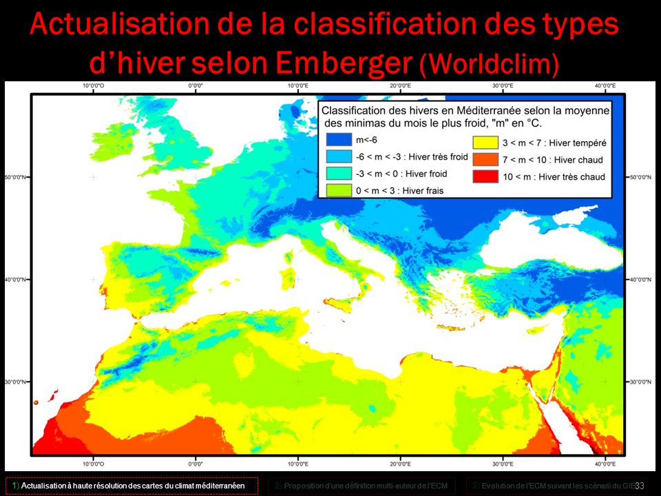 Actualisation de la classification des types d'hiver selon Emberger (Worldclim)