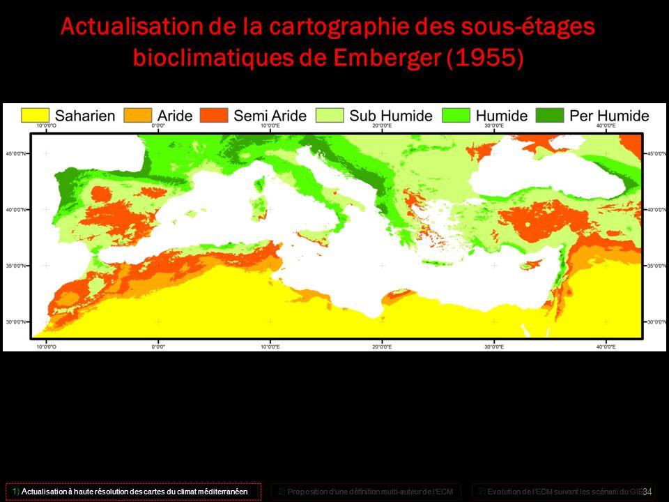 Actualisation de la cartographie des sous-étages bioclimatiques de Emberger (1955)