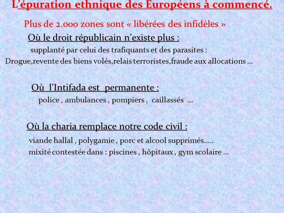 L'épuration ethnique des Européens à commencé.