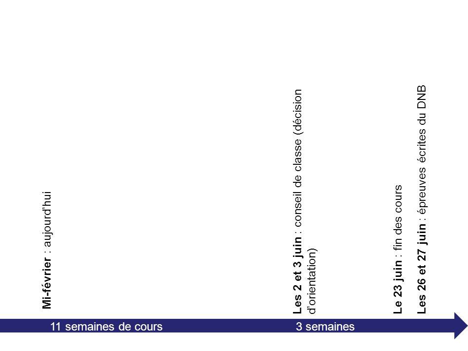 Les 2 et 3 juin : conseil de classe (décision d'orientation)