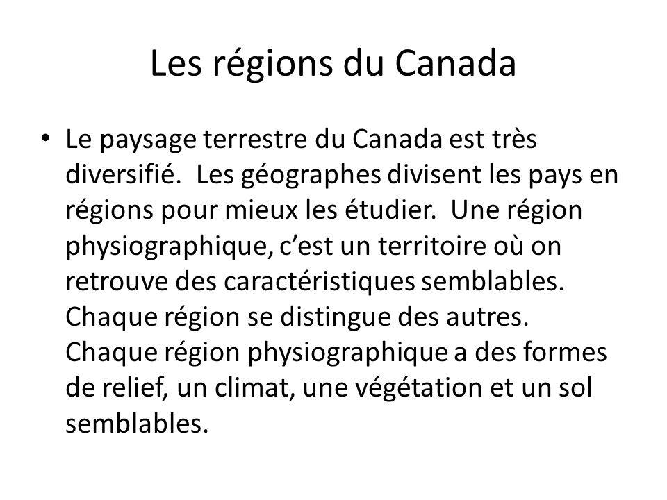 Les régions du Canada