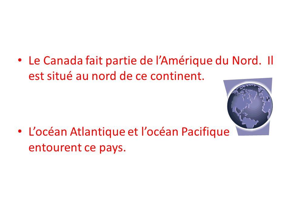 Le Canada fait partie de l'Amérique du Nord