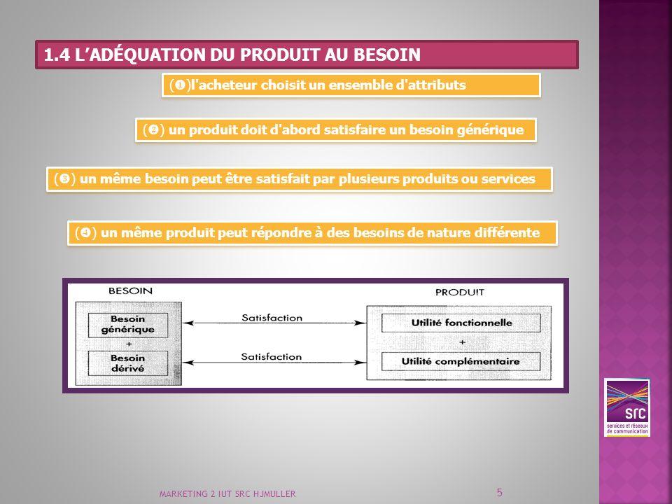 1.4 l'adéquation du produit au besoin