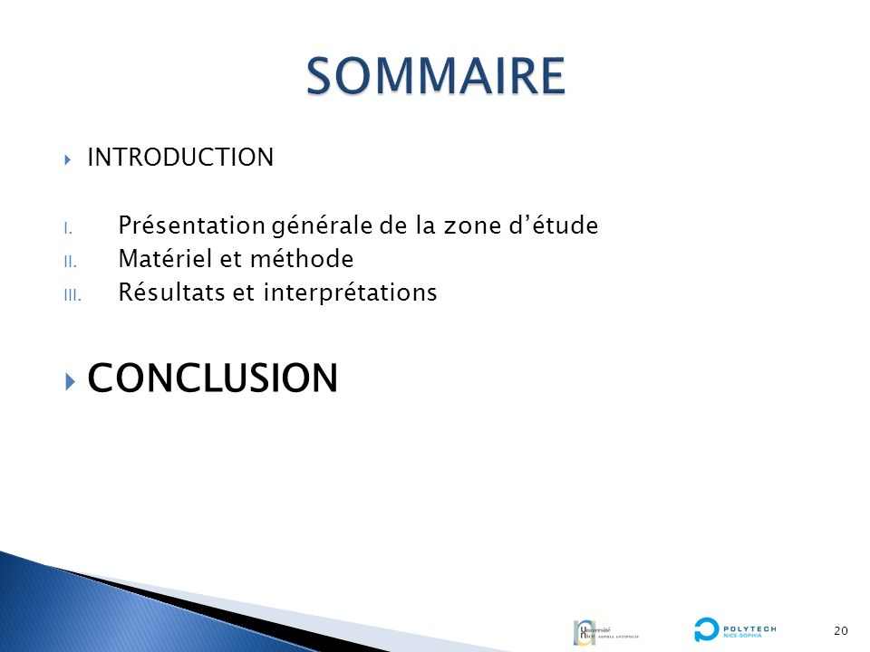 SOMMAIRE CONCLUSION INTRODUCTION