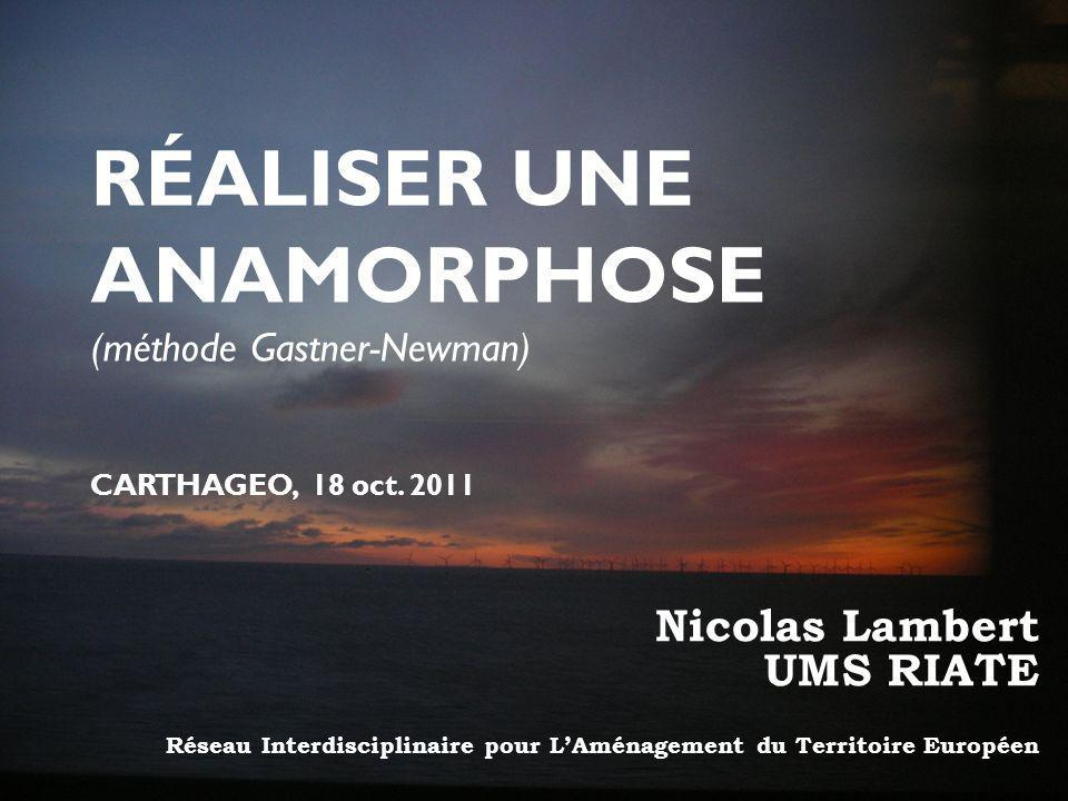 RÉALISER UNE ANAMORPHOSE Nicolas Lambert UMS RIATE