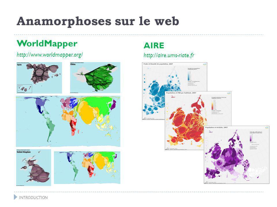 Anamorphoses sur le web