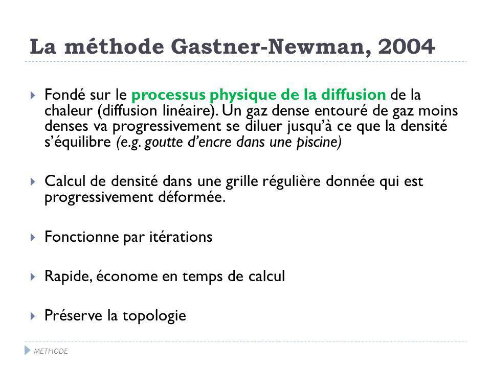 La méthode Gastner-Newman, 2004