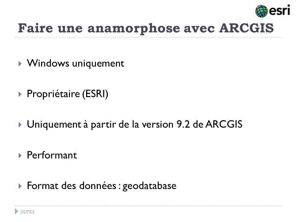 Faire une anamorphose avec ARCGIS