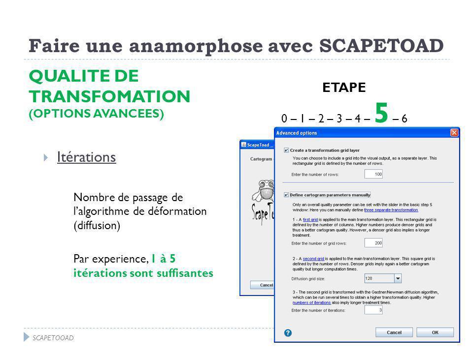 Faire une anamorphose avec SCAPETOAD