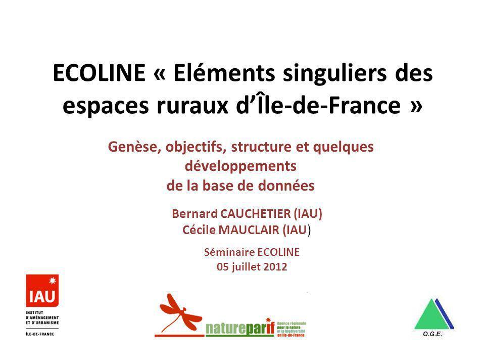 ECOLINE « Eléments singuliers des espaces ruraux d'Île-de-France »