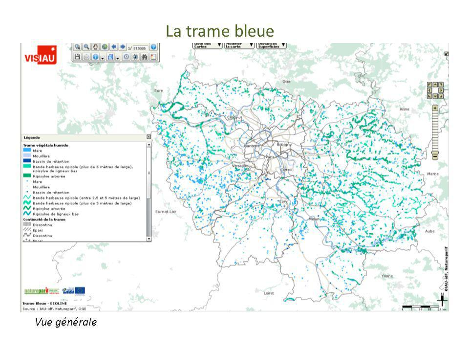 La trame bleue Trame bleue Vue générale