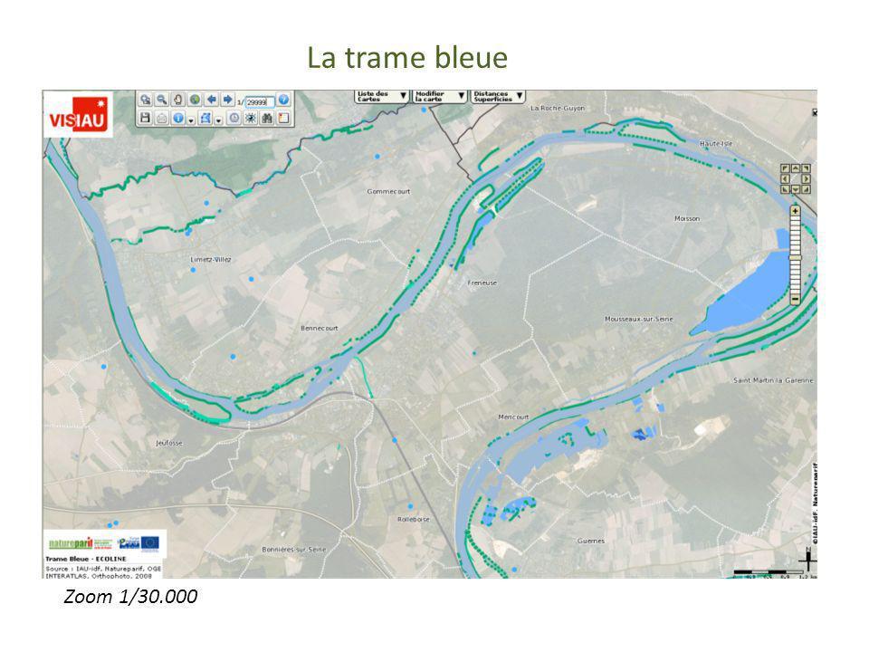 La trame bleue Trame bleue Zoom 30000 Zoom 1/30.000