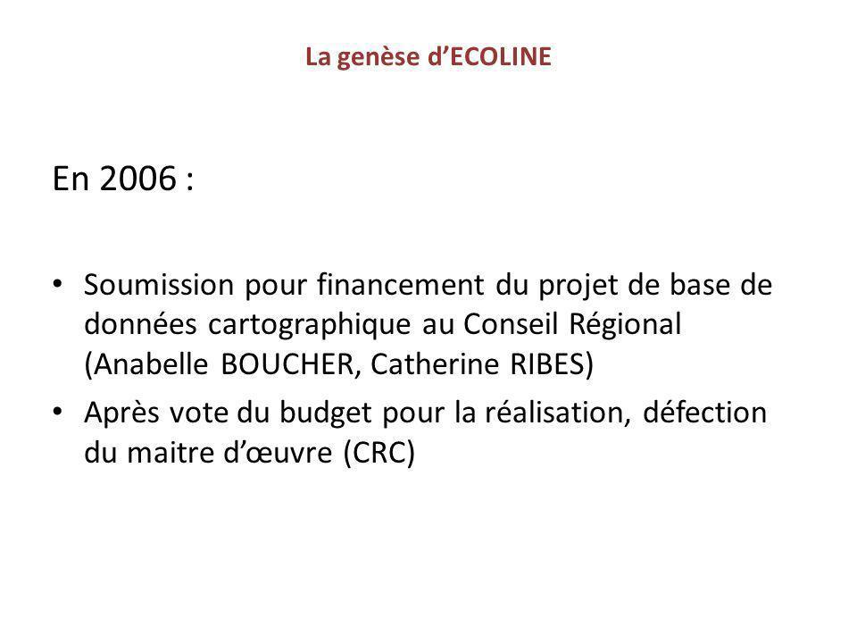 La genèse d'ECOLINE En 2006 :
