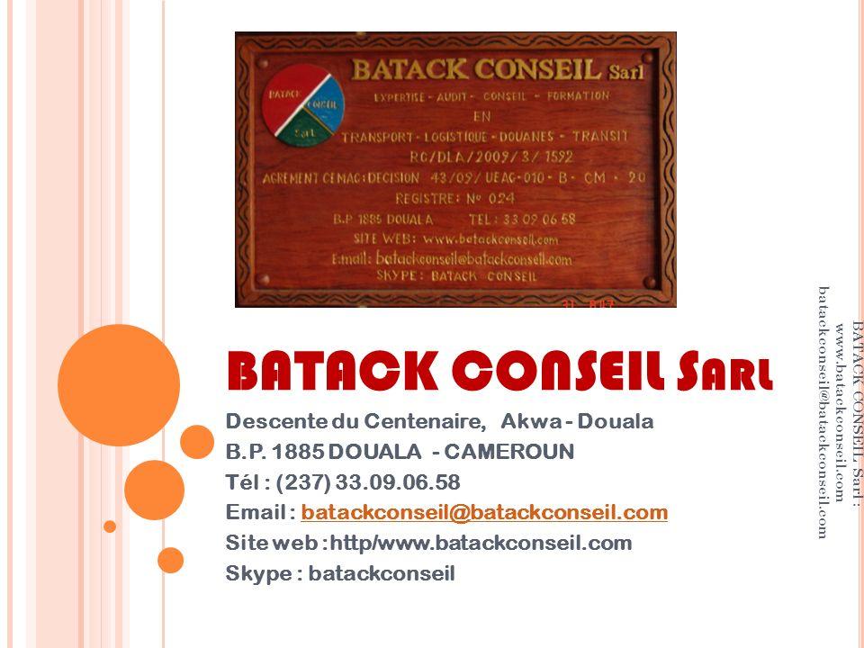 BATACK CONSEIL Sarl Descente du Centenaire, Akwa - Douala