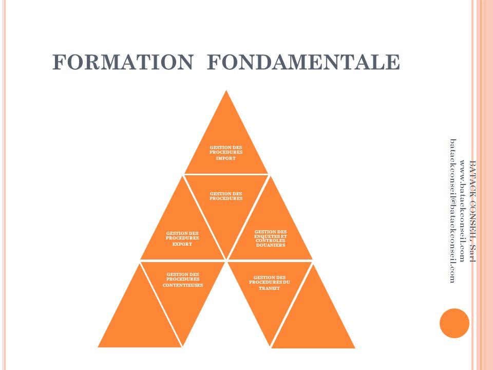 FORMATION FONDAMENTALE
